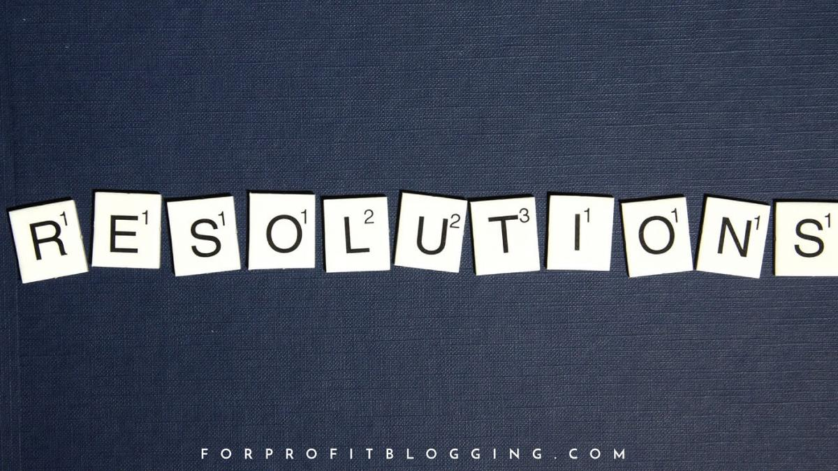 44 Blogging Resolutions for the New Year